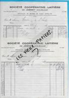 70 - Haute-saône - JASNEY - Facture SOCIETE COOPERATIVE LAITIERE - Laiterie, Beurrerie - 1944 - REF 193A - 1900 – 1949
