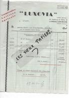 """70 - Haute-saône - LUXEUIL-LES-BAINS - Facture """"LUXOVIA"""" - Coopérative Laitière Agricole - 1950 - REF 193A - 1900 – 1949"""