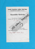 70 - Haute-saône - MAILLERONCOURT-CHARETTE - Facture SOCIETE COOPERATIVE LAITIERE ST-LEGER - 0000 - REF 193A - 1900 – 1949