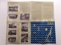 C4410/ Der Nil  Faltprospekt Ca. 1960  Ägypten - Dépliants Touristiques