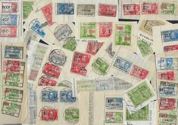 LOTJE VAN +- 130 FISCALE ZEGELS * PERIODE 1920 - 1930 * VERSCHILLENDE WAARDEN * ZIE 4 SCANS VAN ZEGELS - Francobolli