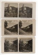 AK-2496/ 3 X Schloß Welsberg Pustertal  Italien NPG Foto Stereofoto Ca.1905 - Stereo-Photographie