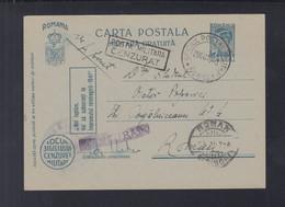 Rumänien Romania Feldpost 1943 Corpul Aerian Roman Grupul 5 Bombardament - Cartas De La Segunda Guerra Mundial