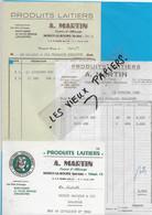 70 - Haute-saône - NOROY-LE-BOURG - Facture MARTIN - Produits Laitiers - 1956 - REF 193A - 1900 – 1949