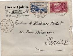 Ambulant Duvivier à Constantine 1939 - Lettre Poste Ferroviaire Algérie - !! Déchirure à Droite - Briefe U. Dokumente