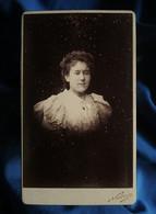 Photo CDV Nadar à Paris  Portrait Fillette  Cheveux Bouclés  CA 1890 - L562B - Oud (voor 1900)