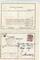 1952 Briefkaart Formulier D.C. 1645 MECHELEN - Lijnstempel MECHELEN DOK - Zegel Catnr S41 90c - Service