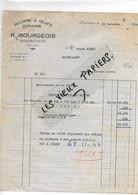70 - Haute-saône - SENONCOURT - Facture BOURGEOIS -  Beurre, Oeufs, Grains - 1944 - REF 193B - 1900 – 1949
