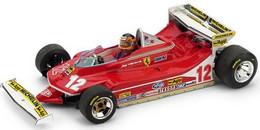 Ferrari 312 T4 - Gilles Villeneuve - GP FI Monaco 1979 #12 - Brumm + Pilot - Brumm