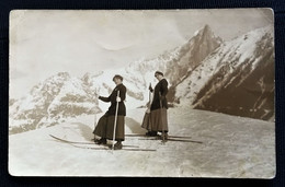 CPA Photo CHAMONIX MONT-BLANC - Skieuses - Chamonix-Mont-Blanc