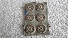 6 X Kokarde Sachsen Alt Weiß Grün Weiß Mütze Helm Schirmmütze Militär - 1914-18