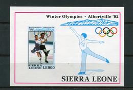 SALE  Sierra Leone 1992 Olympic Games Figure Skating  Mi. Bl. 200  Imperf  MNH - Pattinaggio Artistico