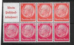 Deutsches Reich,  Postfrischer H-Blatt-Zusammendruck Hindenburg-Ausgabe Von 1940 - Se-Tenant