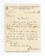 REGGIO CALABRIA - FASCIO DI COMBATTIMENTO - PNF - AUTOGRAPH / LETTERA AUTOGRAFA DEL SEGRETARIO LUIGI DAL BUONO - 1931 - Handtekening