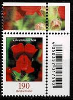 Bund 2019,Michel# 3474 ** Blumen: Löwenmäulchen - Ungebraucht