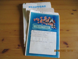 Lot 36 Telegramme Illustre Enveloppe Plusieurs Modeles Russie - Vari