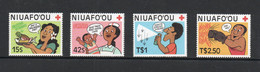 RED CROSS - NIUAFOOU - 1987 - RED CROSS /PREVENTIVE MEDICINE SET OF 4  MINT NEVER HINGED - Red Cross