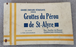 Carnet Incomplet 6 Vues Grotte Du PEROU De ST ALYRE 63 - 7 Vues Auvergne Pittoresque - Collection PAPON Clermont Ferrand - Ohne Zuordnung