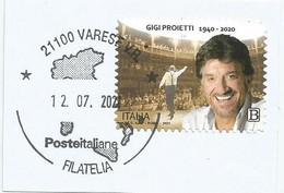 ITALIA 2021 GIGI PROIETTI Usato Su Frammento - 2011-...: Usati