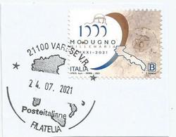 ITALIA 2021 MODUGNO Usato Su Frammento - 2011-...: Usati