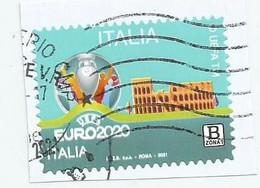ITALIA 2021 EURO2020 Usato Su Frammento - 2011-...: Usati