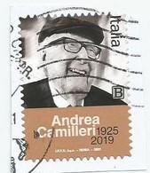 ITALIA 2021 ANDREA  CAMILLERI Usato Su Frammento - 2011-...: Usati