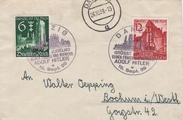 Deutsches Reich Danzig Brief 1939 - Occupation 1938-45