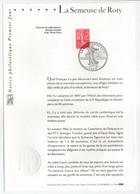 - Notice Philatélique Premier Jour PARIS 6.11.2003 - La Semeuse De Roty - - Documents De La Poste