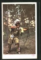 Künstler-AK Indianer, An Ojibwa Brave - Indiani Dell'America Del Nord