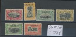 6 Valeurs Typo Avec. Charnière. Cote 103,-€. - 1894-1923 Mols: Nuevos