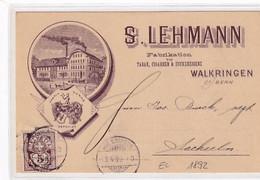 Walkringen - Werbekarte S.Lehmann - Vorläufer - 1892 !!! - Top         (P-350-10422) - BE Berne