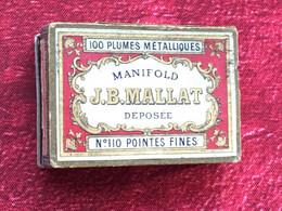 -Nibs Feathers Bureau(objets Liés)Boite 23 Plumes Métallique J.B. MALLAT-Pointe Fine Sergent-Major-Calligraphie écriture - Plumes