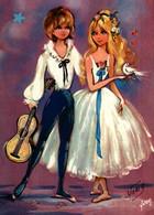 CPSM Editions Yvon     Illustration Vony    Couple, Guitare - Portretten