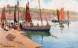 WHITBY NEW QUAY OLD COLOUR POSTCARD YORKSHIRE TUCK OILETTE WHITBY NO 7982 - Whitby