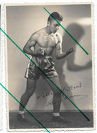 Jeune Homme Boxeur Boxe Photo Carte - Deportes