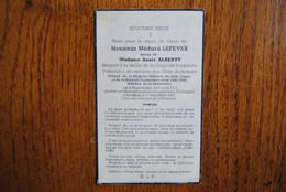 5397/Médard LEFEVER ép A.Alberty Sgt Corps Forestiers-Chasseur Ardennais-Résistance-Poperinghe-Bastogne 44/45 - Décès