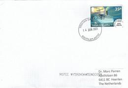 Tristan Da Cunha 2021 Royal Mail Ship Atlantis 1934 Cover - Tristan Da Cunha