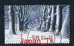 GERMANY Mi. Nr. 2431 Winterstimmung - Eckrand Unten Links- Used - Oblitérés