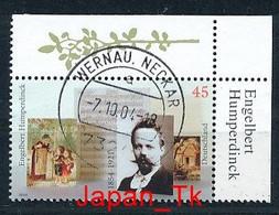 GERMANY Mi. Nr. 2420 150. Geburtstag Von Engelbert Humperdinck - Eckrand Unten Links - Used - Oblitérés