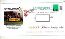 Pap Monument Flamme Chiffree Sous Code Symbole Inegalite Illustré Telethon Jeune Sapeur Pompir Loire - PAP : Altri (1995-...)