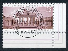 GERMANY Mi. Nr. 2634 275. Geburtstag Von Carl Gotthard Langhans - ET Weiden - Eckrand Unten Rechts - Used - Oblitérés