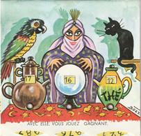 1049 - CARTE A SYSTEME ROULETTE . ILLUST BOZZ . AVEC ELLE VOUS JOUEZ GAGNAT . VOYANTE. SCANS - Altre Illustrazioni