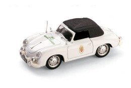 Porsche 356 Cabriolet - Portuguesa Police - 1952 - White & Black Roof - Brumm - Brumm