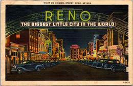 Nevada Reno Night On Virginia Street 1939 - Reno