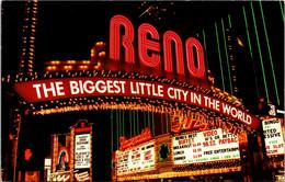 Nevada Reno The Reno Arch At Night - Reno