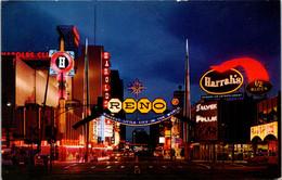 Nevada Reno The Reno Arch And Virginia Street At Night - Reno