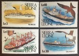Sierra Leone 1988 Ships Birds MNH - Sierra Leone (1961-...)