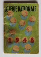 Petit Calendrier 1948 La Loterie Nationale - Petit Format : 1941-60