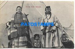 168383 CANADA COSTUMES NATIVE BLACK FOOT INDIANS CIRCULATED TO SPAIN POSTAL POSTCARD - Non Classificati