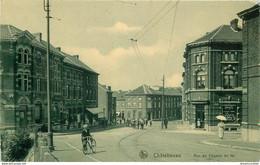 Belgique CHATELINEAU. 1903 Imprimerie Rue Du Chemin De Fer - Châtelet